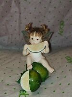 Enesco 2001 Original My LITTLE KITCHEN FAIRIES FAIRY LIME PUCKER FAIRIE