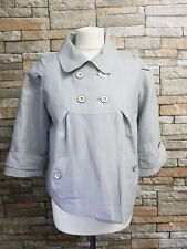 WOMENS GREY RIVER ISLAND CROPPED EVENING  JACKET SIZE 12