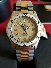 TAG HEUER 2000 PROFESSIONAL 200 METERS 974.006 RARE ORO ACCIAIO VINTAGE 39 mm