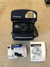 Polaroid One Step Blue 600 Film Instant Auto Focus Camera Flash Tested