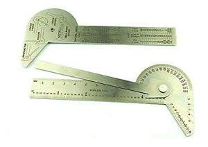 Engineers Protractor Square Rule Centre Finder Divider Drill Point Gauge D8043