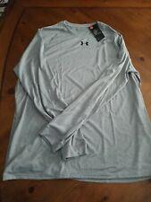 Nwt Mens Underarmor Xxl Long Sleeved shirt Grey