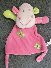 PADGETT BROS PINK COMFORT ANIMAL SHEEP COMFORTER BLANKET BLANKIE