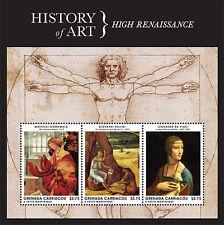 Grenada Grenadines- 2013 History of Art Stamp- sheet of 3