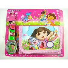 Dora The Explorer Boots the Monkey Children's Wrist Watch & Coins Purse Wallet