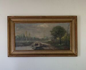 Yan Wenliang (1893–1988) China Artist Oil Painting Signed