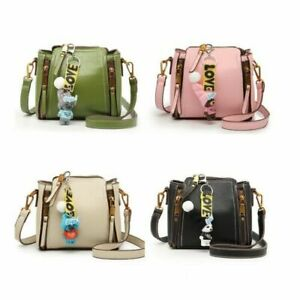 Women Lady Designer  Mini  Crossbody Bag Tote Messenger Faux Leather Key Ring