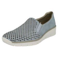 Ladies Rieker 537a6 Slip on Loafers Blue UK 6 Standard