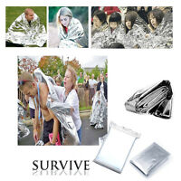 10PCS Outdoor Emergency Sleeping Blanket Survival Camping Rescue Hiking Sliver