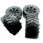 Wheel Tyre Glued tire Set of 4PCS Black for 1/5 Traxxas x maxx 220MM*105MM