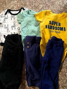 Baby Boy 3 Months Carter's, boppy, circo two piece outfits Clothes Lot of 6