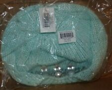 New Abg Hat Cap - Big Girls' Youth Embellished Stones Beret, Blue One Size Nwt