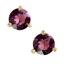 NWT KATE SPADE SQUARE RISE AND SHINE ROUND STUD EARRINGS $38 AMETHYST PURPLE