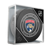 """2018 Florida Panthers Official NHL Hockey Game Puck - w/Cube """" New Design """""""