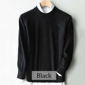 Men's Slim Knitted Cashmere Jumper Pullover Elasticity cozy Sweater Cardigan AU