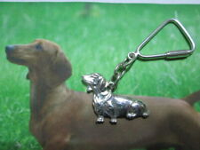 Dachshund keychain made sterling silver 925-artisan product