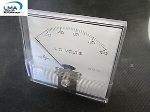 "WILBAC 18534 PANEL METER 0-100 VOLTS AC MODEL 3-1/2"" W *** NEW"