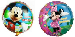 Mickey Minnie Mouse 4 X Balloons Cartoon helium party birthday Favours Disney