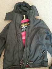 Authentic Superdry Japan The Windcheater Ladies Small Black Jacket EXC