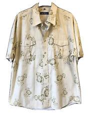 "BEN SHERMAN Mens XL P2P 50"" Summer Floral Shirt Quality Cotton Beach Holiday"