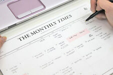 The Monthly Times - Desk Note Pad - Desktop Monthly Scheduler 24 Months Planner