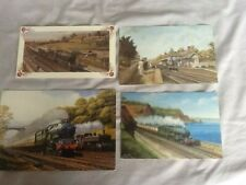 Steam Railway card print postcard Price Hawkins Freeman job lot
