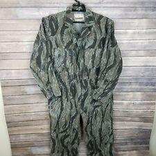 Vintage 70s Tiger Stripe Camouflage Hbt Cotton Coveralls Mens M Camo Jump Suit
