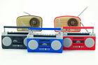 Dollhouse Miniature Boombox  Vintage Radio Black Red Blue 1 Random Figure