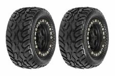 Proline Dirt Hawg Tires Mntd Blk/Blk Titus Wheels For 1:16 E-Revo - Pro107113
