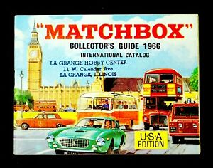 Authentic & Vintage MATCHBOX Collector's Guide 1966 International Catalog