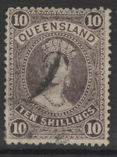QUEENSLAND SG311a 1911 10/= SEPIA USED