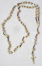 Chapelet du 19e siècle en nacre rosaire rosary mother of pearl