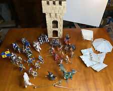 Papo & Scheleich Medieval Lot 21 Figures Knights Tower, Dragon, Horses, Unicorn