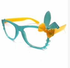 ANT Bunny Frame Design Kids Fashion Glasses Eyewear - BLUE