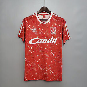 1989-91 Liverpool home Retro soccer jersey