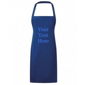 Personalised Embroidery Apron Bib Text Baking Cooking Business Workwear Uniform