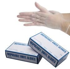 Box of 100 Powder-Free Vinyl Gloves - Large  (Brand New)