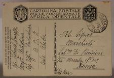 POSTA MILITARE n° 130 E * ( AICPM P.3 ) FRANCHIGIA 4.12.1936 AOI #XP162B