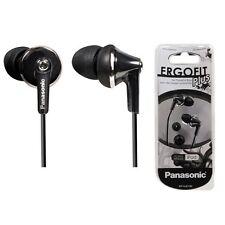 Panasonic RP-HJE190-K Fashion Earbud Earphones ErgoFit PLUS  RPHJE190 Black