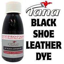 JET BLACK LEATHER DYE - RESTORES RECOLOURS & DYES LEATHER SHOES BOOTS BAGS