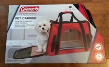 """Coleman 19"""" x 9"""" x 11.5"""" Airline Approved & Water Resistant PET CARRIER / New"""