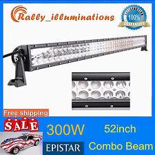 "52"" 300W LED Work Light Bar Spot Flood Combo Fog OffRoad JEEP 4WD SUV BOAT SCREW"