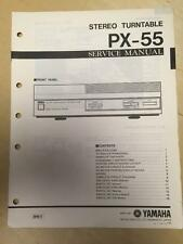 Yamaha Service Manual for the PX-55 Turntable Original