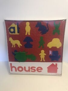Lauri puzzle 1983 FOAM CREPE rubber SEALED HOUSE familiar objects home schooling