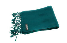 Echarpe etole 100 % cachemire pashmina nepal vert fonce 167x30 cm CA15-9065