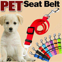 Pet Car Vehicle Seat Belt Safety Seatbelt Harness Leash Lead Dog Adjustable bs