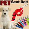 Pet Car Vehicle Seat Belt Safety Seatbelt Harness Leash Lead Dog Adjustable New
