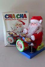 Vintage Cha Cha Beating Drum Santa Claus w/Box Not Working L#1474