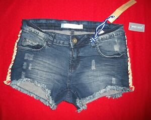 Wet Seal Vintage Shorts Jeans Size 11 Jr. Distressed Stretch $12.50 NWT Free/Sh