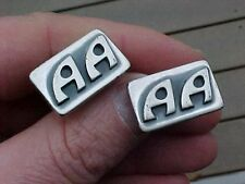 VINTAGE SET OF STERLING CUFFLINKS - AA INITIALS